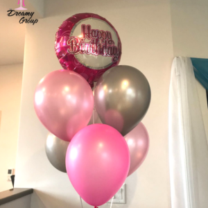 Balloon Bouquet with Chrome and Latex Balloon