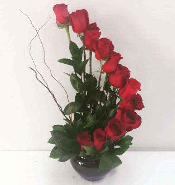 12 rose spiral