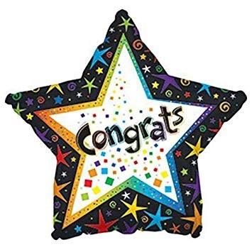Star Congrats Balloon