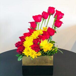 St Kitts Nevis Florist Rose and Gerbera Arrangement
